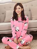 ieftine Női hálóruha-Pentru femei Bumbac Costume Pijamale - Imprimeu, Animal