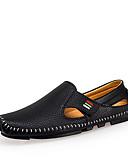 tanie Męskie spodnie i szorty-Męskie Komfortowe buty Mikrowłókno Wiosna / Lato Sandały Spacery Biały / Czarny / Niebieski