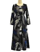 お買い得  プラスサイズドレス-女性用 プラスサイズ ボヘミアン スウィング ドレス - プリーツ プリント マキシ ハイライズ