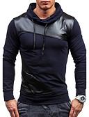 זול גברים-ג'קטים ומעילים-עומד טלאים טרנינג רזה שרוול ארוך פעיל ספורט בגדי ריקוד גברים
