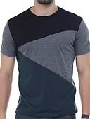 baratos Camisetas & Regatas Masculinas-Homens Camiseta Activo Sólido / Retalhos / Manga Curta
