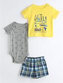 preiswerte Kleidersets für Babys-Baby Kinder Kleidungs Set Lässig/Alltäglich Geometrisch Zeichentrick Gelb