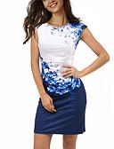 お買い得  マキシドレス-女性用 ボヘミアン プラスサイズ パンツ - フラワー / カラーブロック プリント ネイビーブルー / スリム