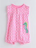 preiswerte Mode für Mädchen-Baby Mädchen Einzelteil Baumwolle Kurzarm Rosa