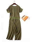hesapli Erkek İç Giyimi ve Çorapları-Kadın's İhtişam Tişört Tişört - Saf Renk, Solid Pantolon