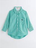 cheap Boys' Clothing-Boys' Solid Shirt, Cotton Spring Fall Long Sleeves Light Blue