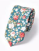 olcso Férfi nyakkendők és csokornyakkendők-Férfi Nyomtatott Pamut, Nyakbavaló - Nyakkendő