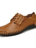abordables Vestidos de Mujer-Hombre PU Primavera / Otoño Confort Zapatos de taco bajo y Slip-On Paseo Azul / Marrón Claro / Morrón Oscuro