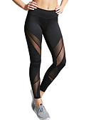 cheap Leggings-Women's Daily Going out Sporty Legging - Solid Colored, Mesh Mid Waist