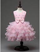 זול שמלות שושבינה-שמלה פוליאסטר כל העונות ללא שרוולים ליציאה אחיד הילדה של