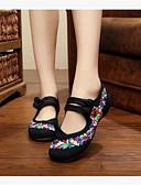 ieftine Leggings-Pentru femei Pantofi Pânză / Țesătură Iarnă Josi / Confortabili Pantofi Flați Vârf Închis Negru / Rosu / Albastru