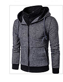 cheap Men's Jackets & Coats-Men's Active Jacket - Solid Colored, Patchwork Hooded / Long Sleeve