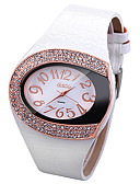 cheap Quartz Watches-Women's Quartz Wrist Watch Chinese Imitation Diamond Leather Band Sparkle Simulated Diamond Watch Unique Creative Watch Fashion White Red