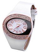 tanie Kwarcowy-Damskie Zegarek na nadgarstek Kwarc Imitacja diamentu Skóra Pasmo Analog Błyszczące Moda Unikalny zegarek Biały / Czerwony / Brązowy - Biały Kawowy Różowy