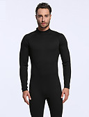 cheap Leather Band Watches-Men's Full Wetsuit 3mm Diving Suit Long Sleeve Back Zip - Diving Solid Colored Spring &  Fall / Stretchy