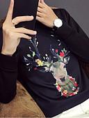 cheap Men's Hoodies & Sweatshirts-Men's Long Sleeve Sweatshirt - Animal Round Neck