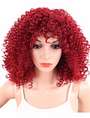 cheap Quartz Watches-Synthetic Wig Curly / Afro Synthetic Hair African American Wig Red Wig Women's Short Capless