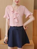 povoljno Ženski dvodijelni kostimi-Žene Majica s rukavima - Jednobojni Suknja