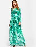 baratos Vestidos de Mulher-Mulheres Para Noite Feriado Boho Bainha Vestido - Estampado Cintura Alta Longo