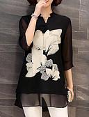 baratos Vestidos de Mulher-Mulheres Tamanhos Grandes Blusa Estampado, Floral Decote V Solto / Verão