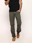 זול מכנסיים ושורטים לגברים-בגדי ריקוד גברים כותנה ישר / צ'ינו מכנסיים אחיד