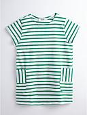 preiswerte Mode für Mädchen-Mädchen Gestreift Kurzarm Kleid