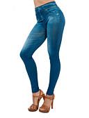 baratos Calças Femininas-Mulheres Moda de Rua Tamanhos Grandes Skinny Jeans Calças - Sólido