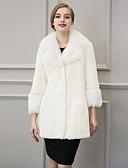cheap Women's Fur Coats-Faux Fur Wedding Party / Evening Women's Wrap With Pocket Ruffles Coats / Jackets