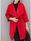 cheap Women's Coats & Trench Coats-Women's Plus Size Loose Coat - Solid Colored, Classic Style