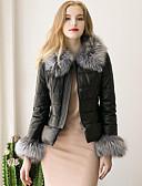 cheap Women's Fur Coats-Women's Going out Faux Fur PU Fur Coat - Solid Colored Stand