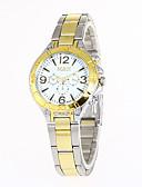 preiswerte Quartz-Damen Armbanduhr / Militäruhr / Sportuhr Kreativ / Cool / Armbanduhren für den Alltag Edelstahl Band Charme / Luxus / Retro Silber / Gold