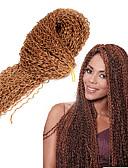 preiswerte Damen Kleider-Geflochtenes Haar Afro / Gehäkelt / Curly Webart Pre-Schleife Crochet Borten Synthetische Haare 1pc / pack Haar Borten 100% kanekalon haare