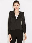 ieftine Blazere-Pentru femei Rever Clasic Regular Blazer Zilnic Muncă Sofisticat, Mată Primăvară Toamnă Bufantă Poliester