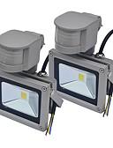 hesapli Düğün Hediyeleri-JIAWEN 10 W LED Yer Işıkları Sensör Sıcak Beyaz / Serin Beyaz 85-265 V Açık Hava Aydınlatma