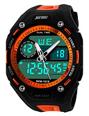 cheap Kids' Watches-SKMEI Sport Watch / Wrist Watch Chinese Calendar / date / day / Chronograph / Water Resistant / Water Proof Plastic Band Black / Dual Time Zones / Stopwatch / Noctilucent