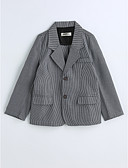 cheap Girls' Clothing-Toddler Boys' Houndstooth Long Sleeve Cotton Suit & Blazer Gray 3-4 Years(110cm)