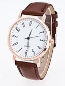ieftine Quartz-Bărbați Pentru femei Ceas de Mână Quartz PU Bandă Analog Casual Modă Ceas Elegant Negru / Maro - Negru Cafea Un an Durată de Viaţă Baterie / Jinli 377