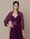 hesapli Nedime Elbiseleri-Şifon Düğün / Parti / Gece Kadın Eşarpları İle Boleros