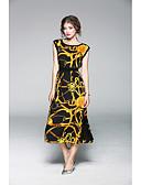 levne Dámské šaty-Dámské Pouzdro Šaty - Jednobarevné, Tisk