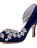 preiswerte Damen Kleider-Damen Schuhe Stretch - Satin Frühling / Sommer Pumps Hochzeit Schuhe Stöckelabsatz Runde Zehe Kristall Rot / Leicht Rosa / Elfenbein