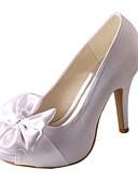 olcso Kvarc-Női Cipő Streccs szatén Tavasz / Nyár Magasított talpú Esküvői cipők Tűsarok Köröm Csokor Fehér