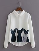 billige Bluser-Skjortekrage Skjorte Dame - Dyr / Høst