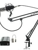 cheap Women's Sweaters-Audio Kit BM700 Microphone Recording Studio Microphone  with Windproof Window Filter  Arm Holder 48v Phantom Power