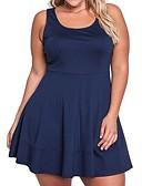 זול שמלות נשים-צווארון U גיזרה נמוכה מיני מעל הברך אחיד - שמלה ישרה נדן מידות גדולות עבודה בגדי ריקוד נשים