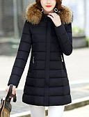 cheap Women's Downs & Parkas-Women's Work Going out Cotton Long Padded - Solid Colored, Print Patchwork