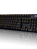billige Truser-AJAZZ AJAZZ-AK52 Med ledning monokromatisk bakgrunnsbelysning blå brytere 104 mekanisk tastatur bakgrunnsbelyst Programmerbar