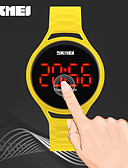 cheap Kids' Watches-SKMEI Women's Digital Watch Chinese Water Resistant / Water Proof / Noctilucent / Cool PU Band Casual Black / Blue / Red / Two Years / Maxell626+2025