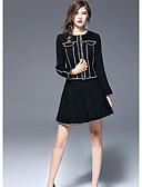 abordables Vestidos de Mujeres-Mujer Chaqueta Bloques Color puro