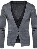 זול חולצות לגברים-אחיד - קרדיגן שרוול ארוך צווארון V בגדי ריקוד גברים