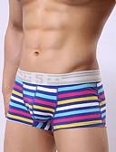 abordables Ropa interior para hombre exótica-Hombre Súper Sexy Boxers Cortos A Rayas 1 Pieza Rojo Gris Bleu Ciel L XL XXL